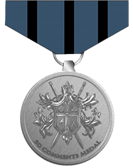 50 comments medal
