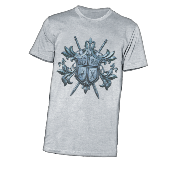 CI-Coat of Arms - Blue on Ash T-Shirt